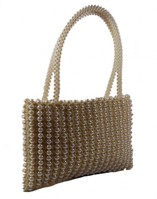 Dámská kabelka ruční výroba #06 krémová