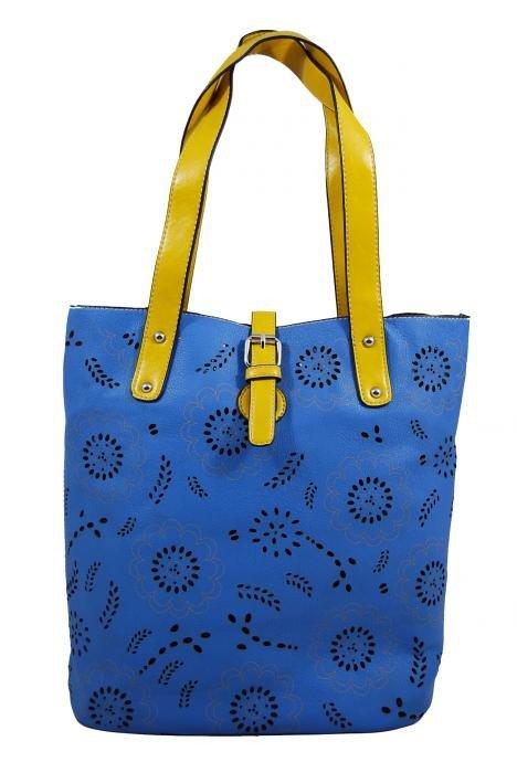 Lehká dámská kabelka 7054-2 modrá