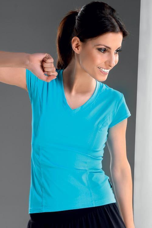 Fitnes tričko Gracia tyrkys