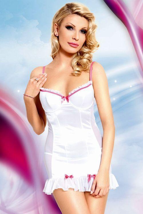 Erotická košilka Lizzy white