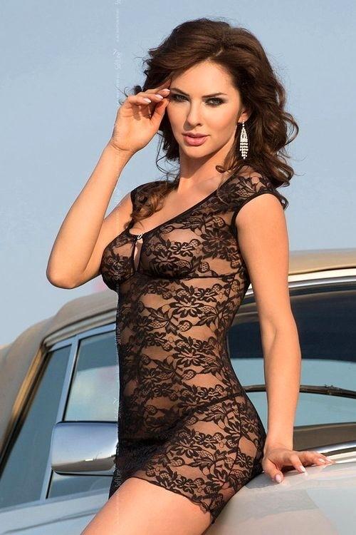 Erotická košilka Linley black