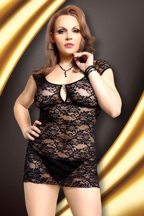 Erotická košilka Linley black XXL