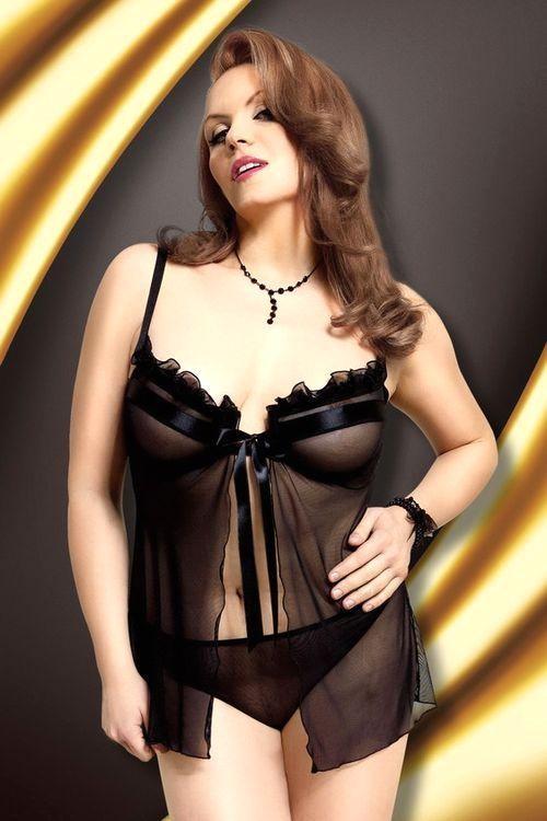 Erotická souprava Nadine black XXL
