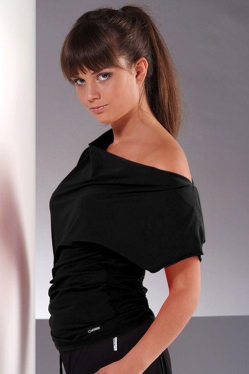 Fitness tričko Atena black