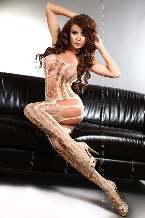 Bodystocking Almas beige