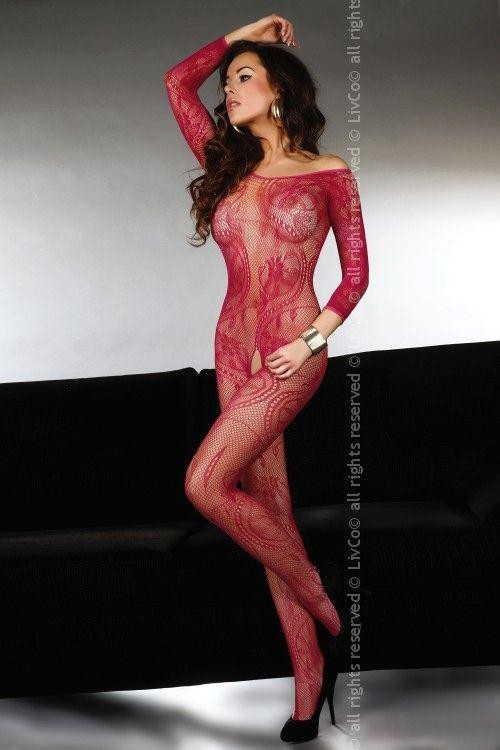 Bodystocking Abra maroon