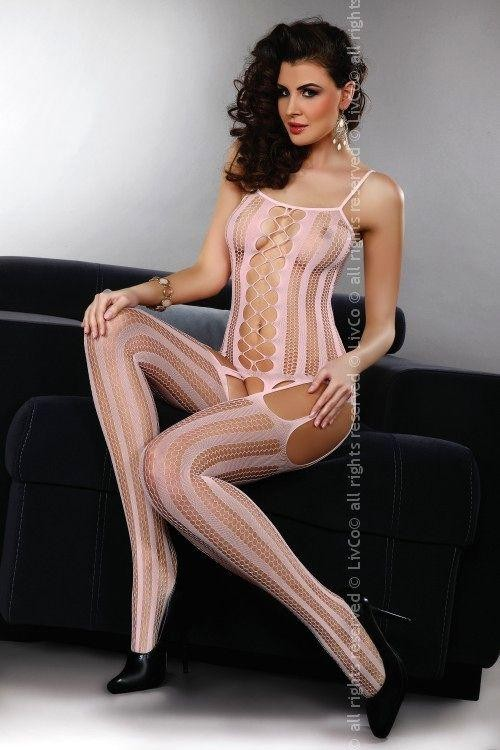 Bodystocking Almas pink