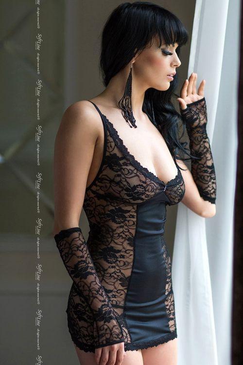 Erotická košilka Evie black