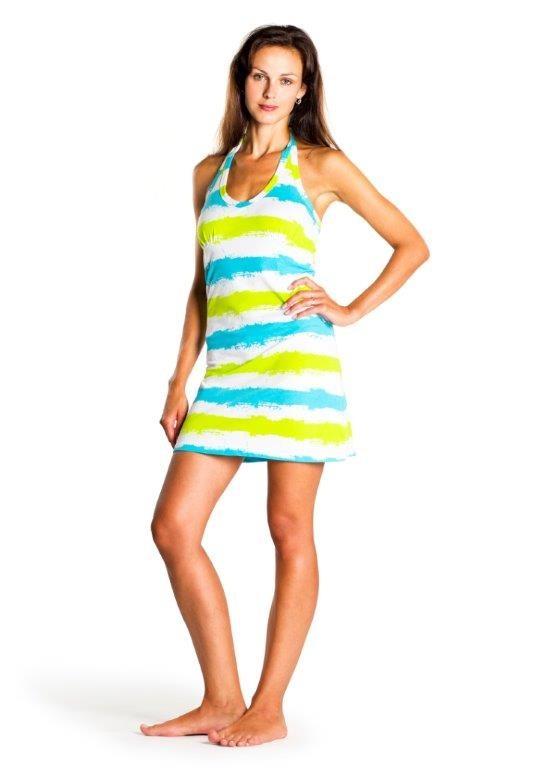 Letní šaty Stripy Dress White