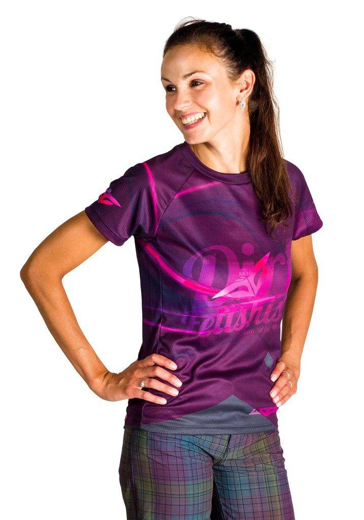 Dámský cyklo dres Dirt Fetishist violet short