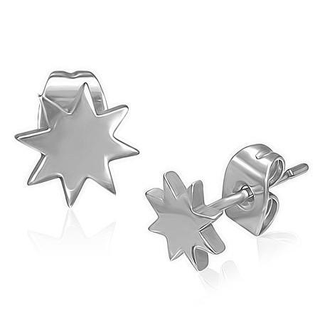 Náušnice hvězdičky chirurgická ocel th-zem087