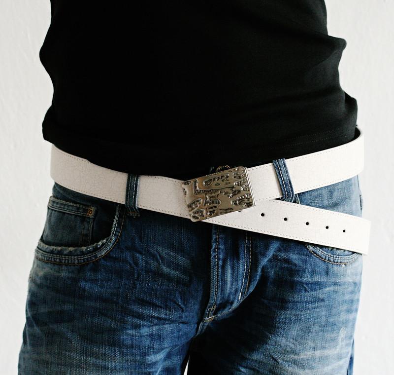 Stylový pánský pásek br047wh