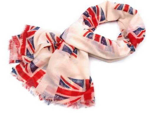 Šála 110x200cm vlajka Velké Británie (1 ks)