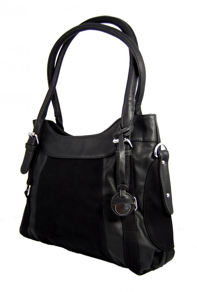 Pohodlná kabelka na rameno JK13-13 černá