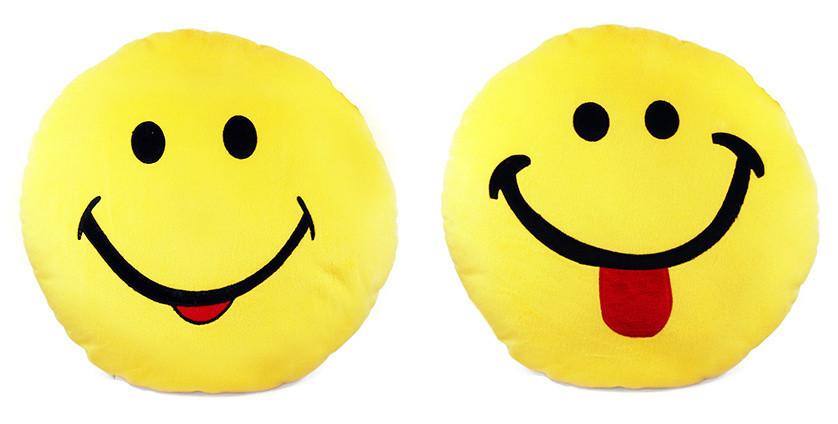 Plyšový polštář s úsměvem 35 cm