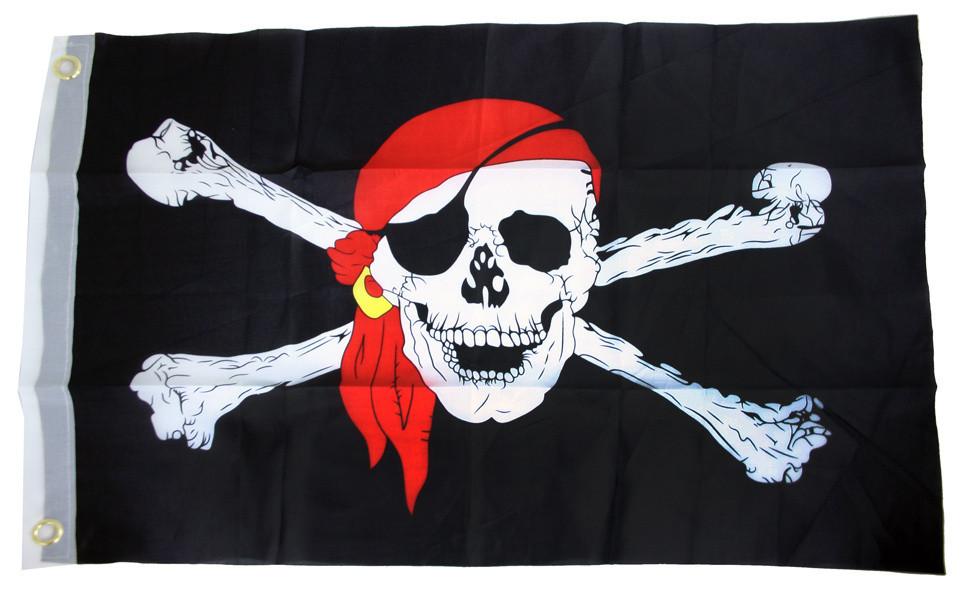 Vlajka pirátská  40x60cm