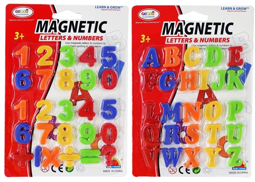 Čísla/písmena magnetic. malá, 2 druhy