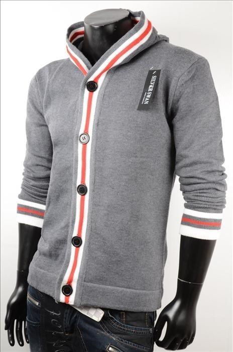 Pánský svetr s kapucí p-sv04tg
