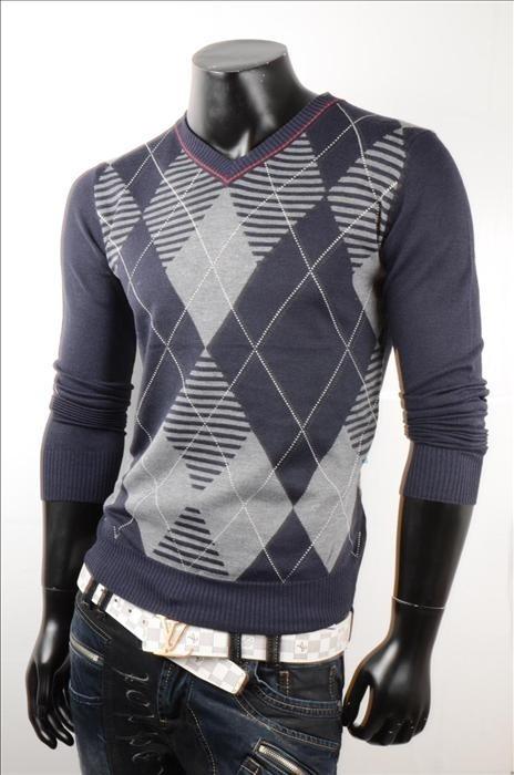 Pánský stylový svetr p-sv03mo