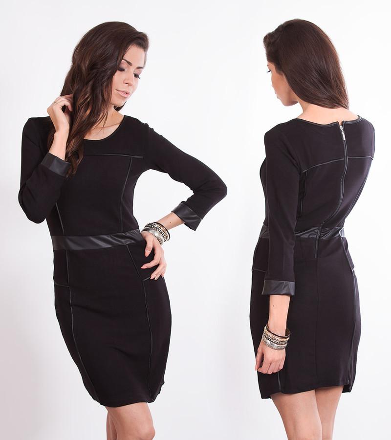 Dámské černé šaty k0475