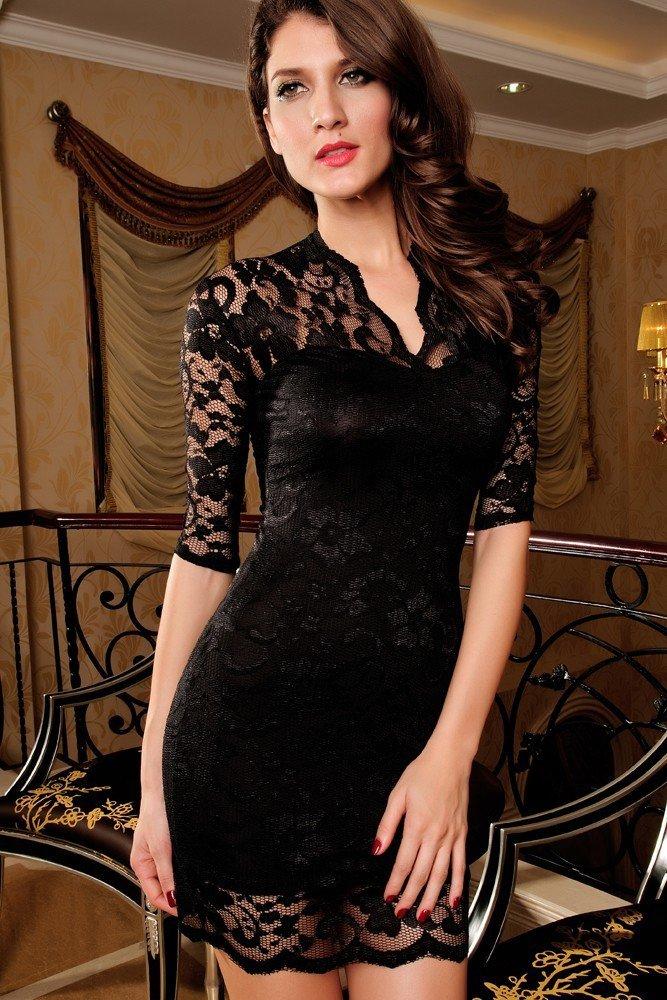 Večerní dámské šaty d-sat032bl