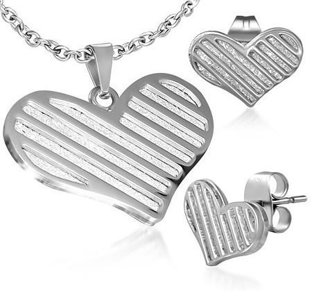 Ocelový set srdce