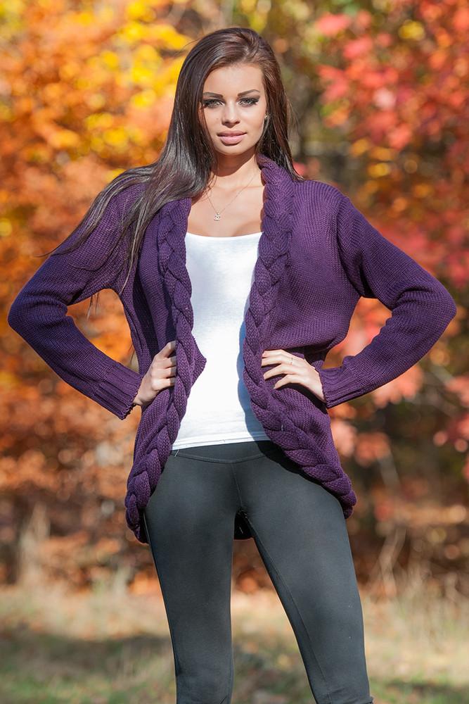 Pletený svetr s copánkem maja07fi