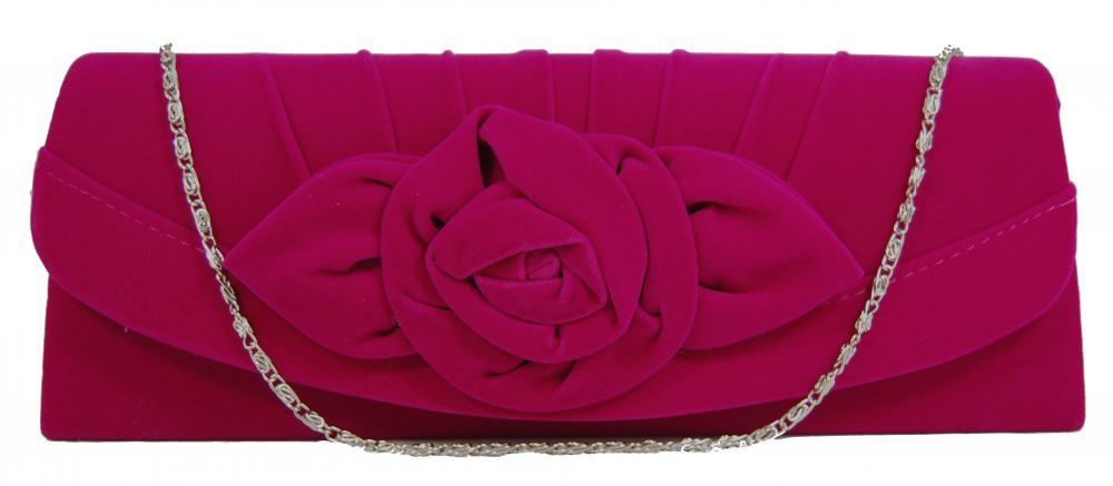 Elegantní dámské plesové psaníčko WZ-057 růžové
