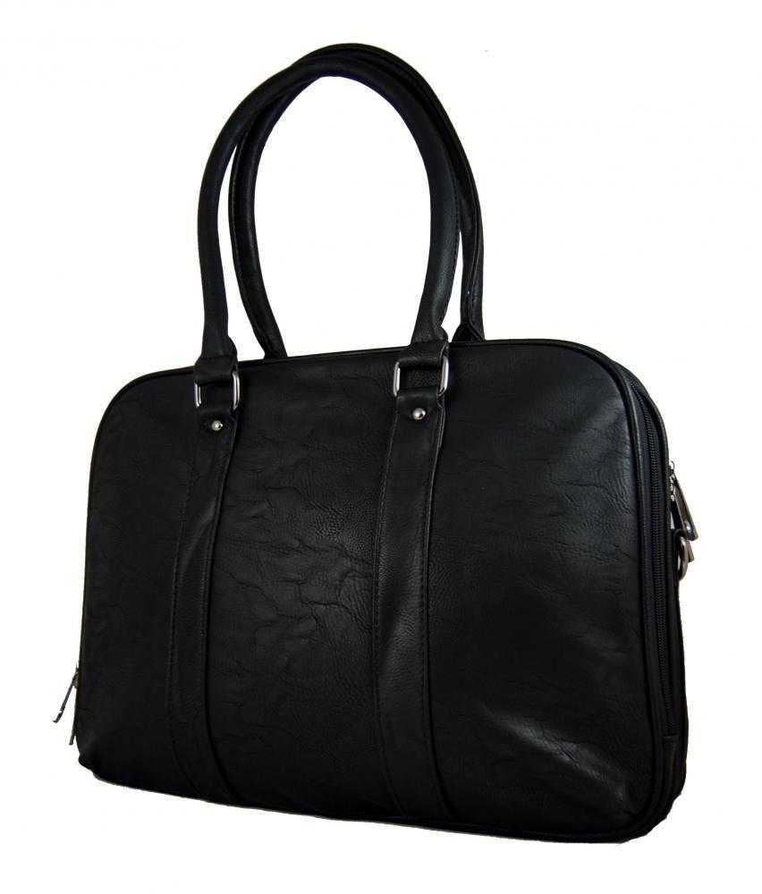 Černá notebooková kabelka na rameno AE-0832