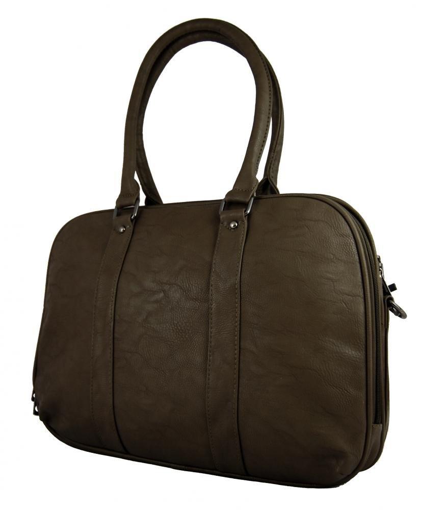 Tmavě hnědá notebooková kabelka na rameno AE-0832