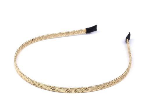 Čelenka kovová šíře 5mm s lurexem (1 ks)