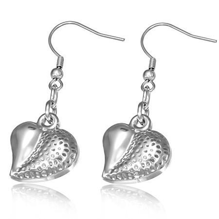 Náušnice srdce z nerezové oceli th-gec044