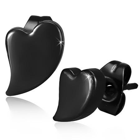 Ocelové náušnice černé th-jes202