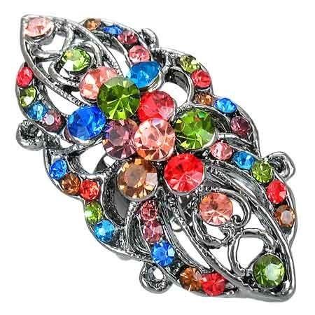 Dámský prsten s krystaly th-frb081