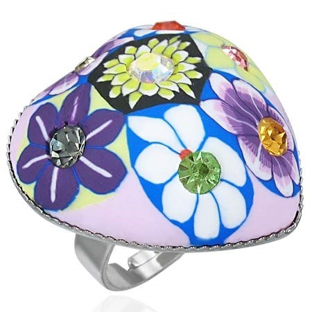 Dámský fimo prsten - flowers th-frd027