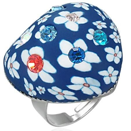 Dívčí prsten - heart modrý th-frd009