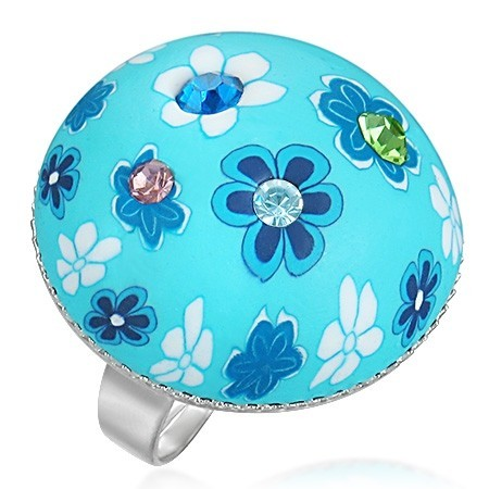 Dámský prsten fimo modrý th-frd069