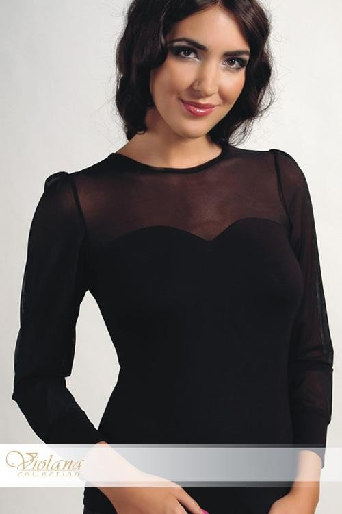 Halenka Elena black - dlouhý rukáv