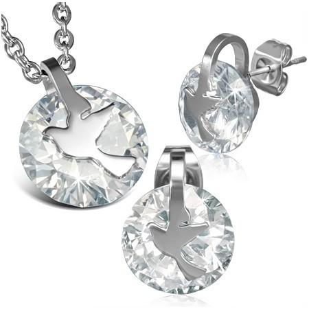 Sada ocelových šperků th-set174
