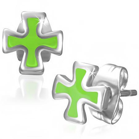 Dámské náušnice kříž th-jes265