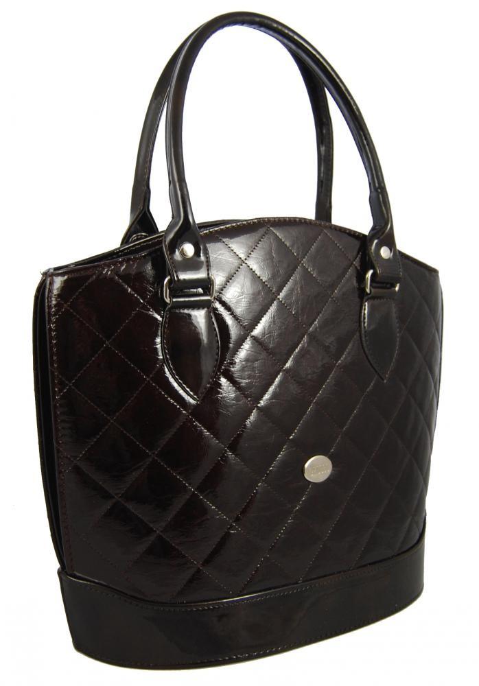 Luxusní prošívaná kabelka S55 tmavé bordo Grosso