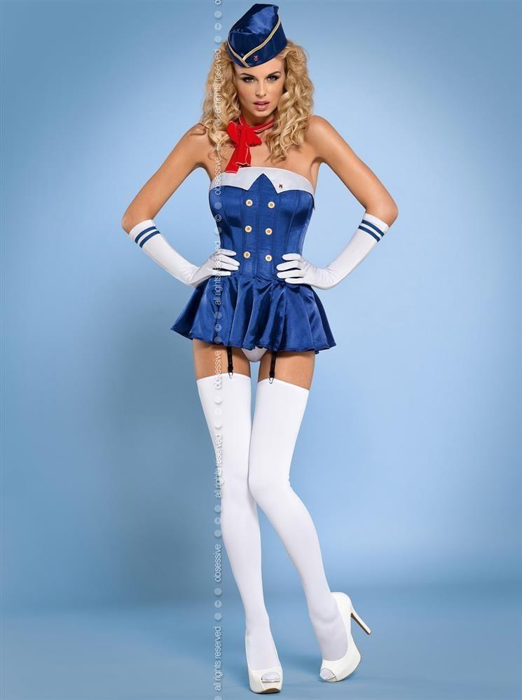 Sexy kostým Stewardess corset