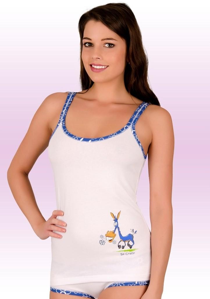 Dámská košilka na ramínka s obrázkem oslíka