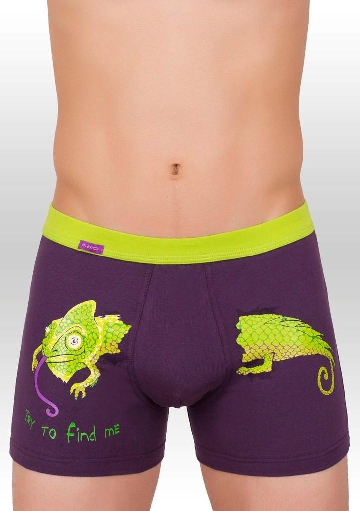 Pánské boxerky s obrázkem chameleona