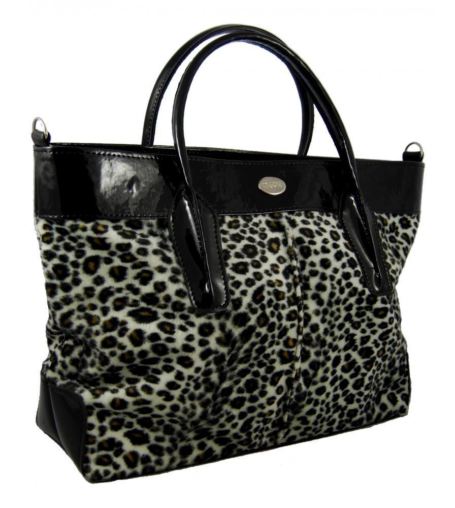 Módní kožešinová kabelka S133 leopard