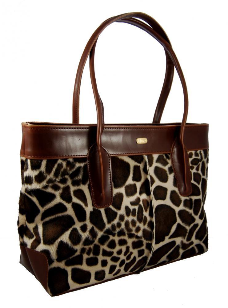 Módní kožešinová kabelka S133 žirafa