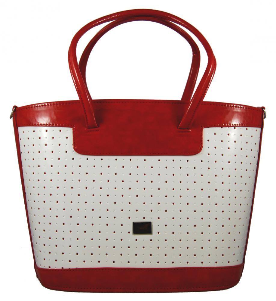 Jarní model 2014 bílo-červená kabelka S312 GROSSO