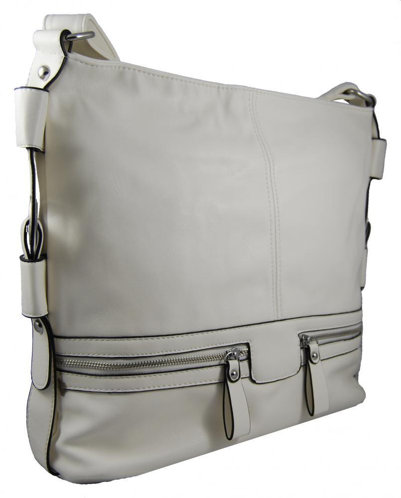 Dámská crossbody kabelka D1010 bílá