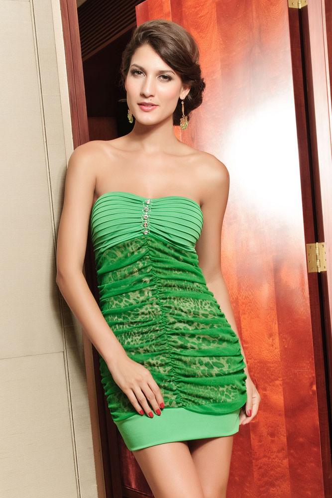 Dámské zelené šaty d-sat227ze