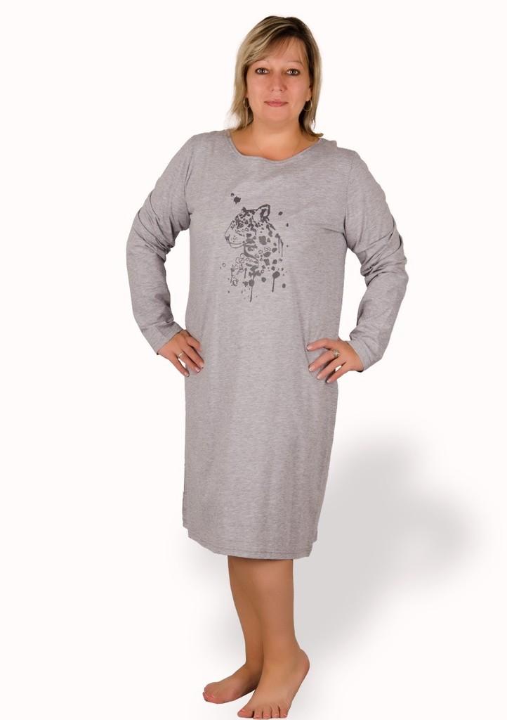 Dámská košile nadměrné velikosti vzor gepard
